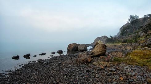 Amanece en lago Burmeister