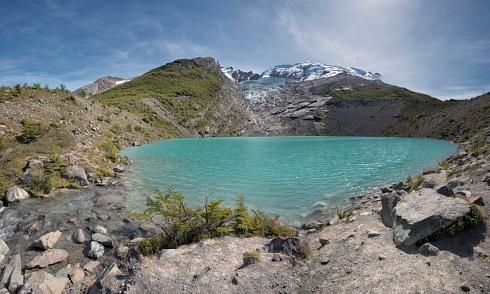 Lago y Glaciar Huemul