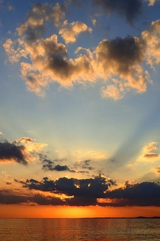 Puesta de sol el Punta Ballena