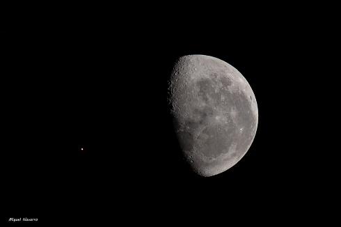 Ahora, conjunci�n de Luna menguante y Marte...